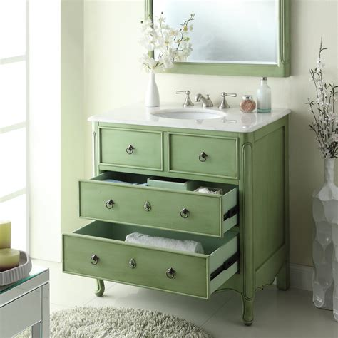 adelina  vintage bathroom vanity vintage mint green finish