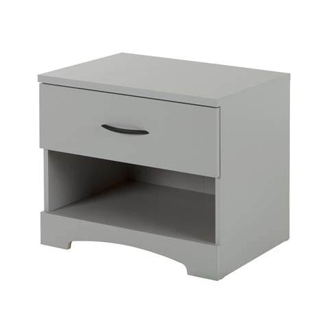 South Shore Step One Dresser Grey Oak by South Shore Step One 1 Drawer Nightstand Soft Gray