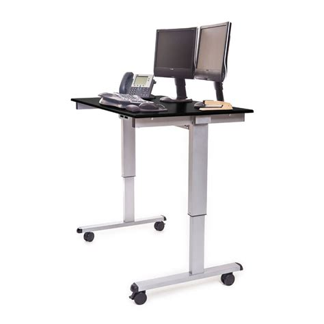 motorized stand up desk 48 quot electric adjustable stand up desk