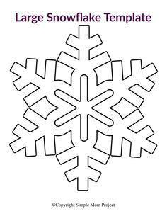 printable large snowflake templates snowflake