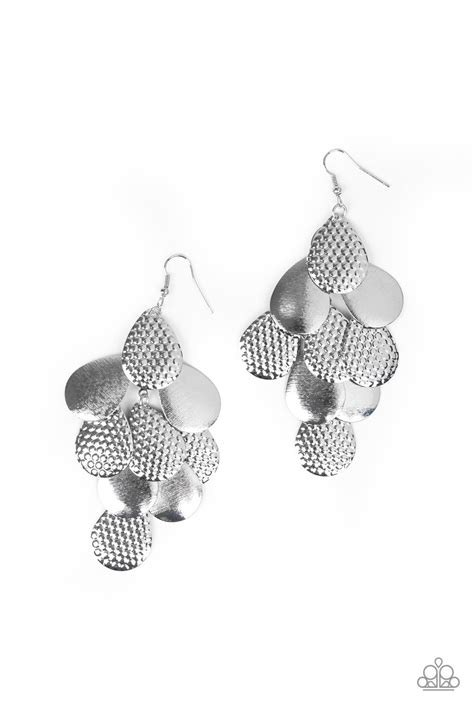 Paparazzi Accessories - Chime Time - Silver Earrings