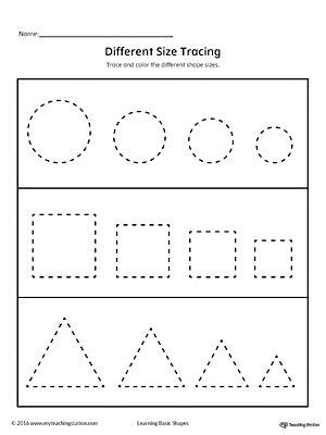 learning basic shapes color trace  connect shape