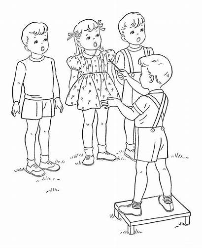 Coloring Pages Children Sheets Singing Activity Bing