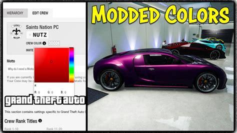 gta crew colors gta 5 modded crew color quot maroon