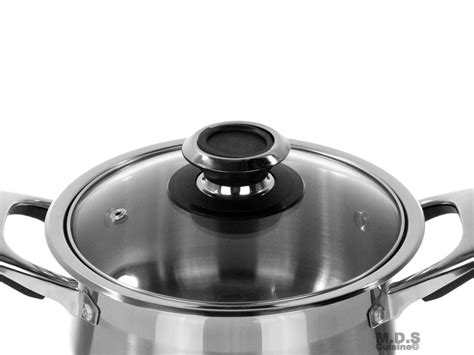dutch oven qt stainless steel tri ply encapsulated bottom