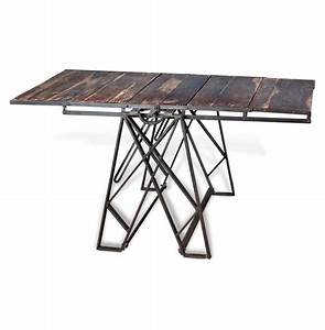 Prasat Industrial Loft Convertible Dining Table Bookshelf