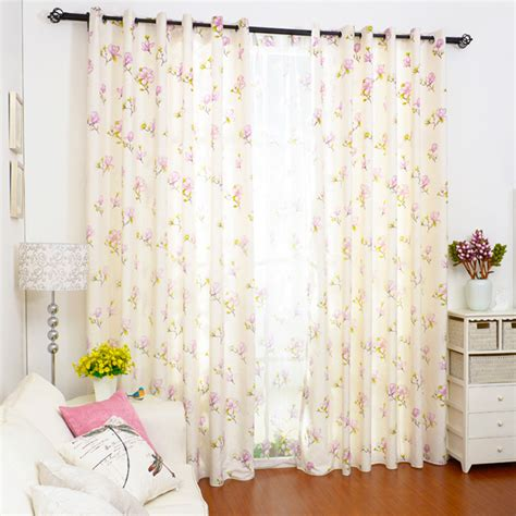 country cottage curtains made of cotton fabric