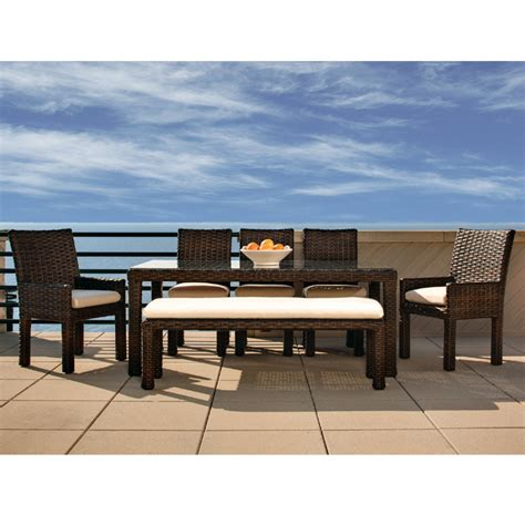 lloyd flanders contempo outdoor patio dining set with aged