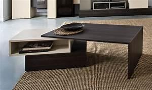 Table Basse Bois Foncé : table basse design et modulable en bois beige et ch ne fonc hifi ~ Teatrodelosmanantiales.com Idées de Décoration
