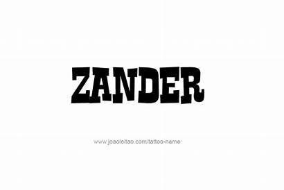 Zander Xander Tattoo Designs