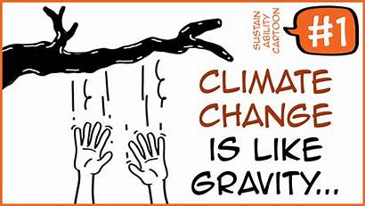 Gravity Cartoon Change Climate Sustainability Leave Empty