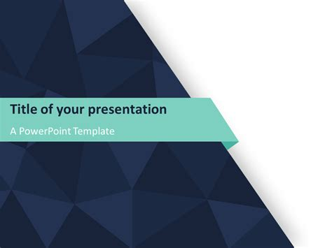 abstract triangle pattern powerpoint template