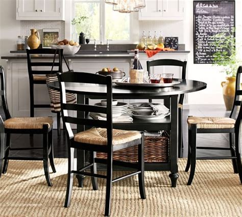 Shayne Dropleaf Kitchen Table, Black  Pottery Barn