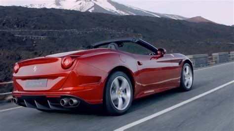 It gathers speed in any gear and with haste proportionate to the pedal squeeze. 2015 Ferrari California T - OFFICIAL Trailer - YouTube