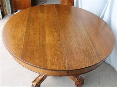 Oak Round Dining Antique Diameter Inches Leaves