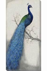 blue peacock wall art beautiful pinterest With peacock wall art