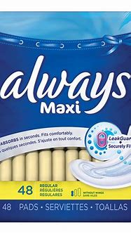 Always Maxi Pads - Regular - Unscented - 48's | London Drugs