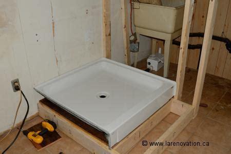 installer le drain dune cabine de douche