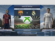 PES 2015 Xbox ONE Gameplay Barcelona vs Real Madrid YouTube