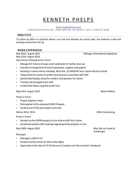 my most recent resume