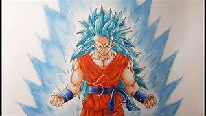 Drawing Goku Super Saiyan Blue 3 Youtube