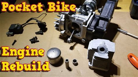 pocket bike engine rebuild full instructions 49cc 50cc youtube