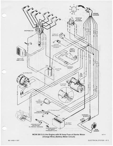 Mercruiser 5 7 Alternator Wiring Diagram by Wiring Diagram For A 1984 24 Foot Renken Boat