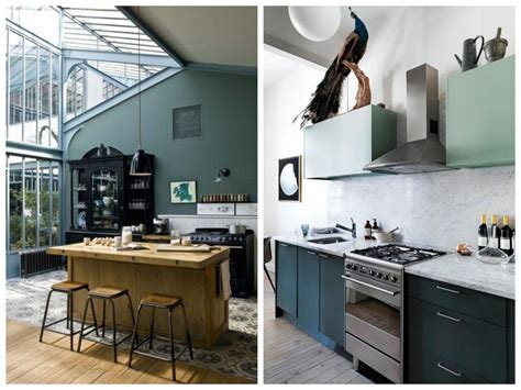 meuble cuisine vert deco cuisine mur mur cuisine bleu cuisine deco
