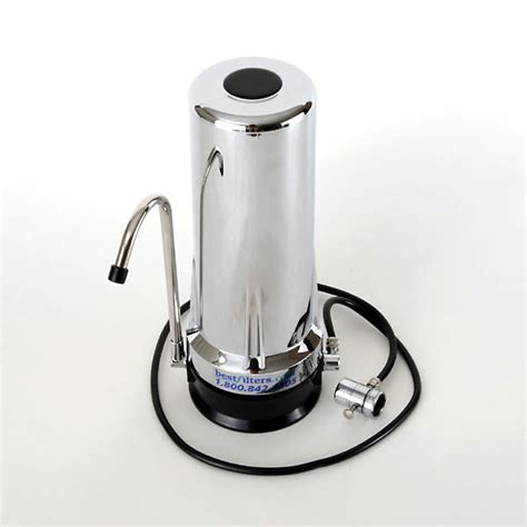 best countertop water filtration system chrome finish countertop water filter by bestfilters
