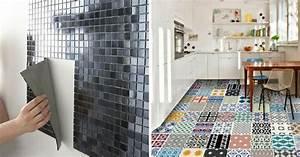 avantages inconvenients du carrelage adhesif a lire With carrelage adhesif salle de bain avec led décoration intérieur