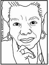 Angelou Coloring Maya Pages Printable Woman Phenomenal Info Poet Getdrawings sketch template