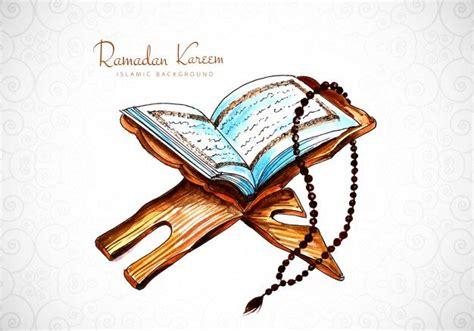 elegant ramadan kareem card  quran background