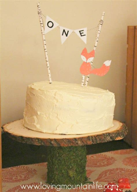 diy one cake topper with free printable from loving