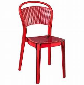 Chaise Plastique Transparente : chaise design 39 storm 39 rouge transparente en mati re plastique pinterest chaise design ~ Melissatoandfro.com Idées de Décoration