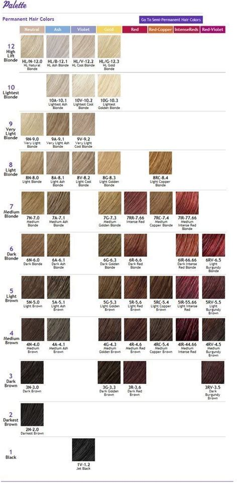 ion colors ion color brilliance chart hair color or cut ideas in