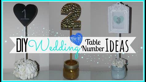 Diy Wedding Table Number Ideas Affordable Wedding