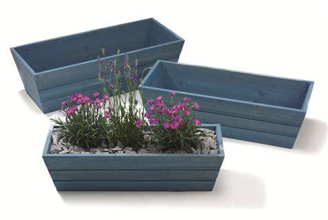 forget   blue wooden window box trough planter
