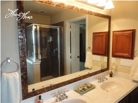 How Do You Frame A Bathroom Mirror by 1000 Ideas About Tile Mirror Frames On Tile