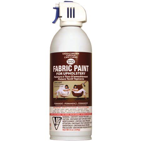 Upholstery Fabric Paint Walmart upholstery spray fabric paint 8 ounces saddle brown