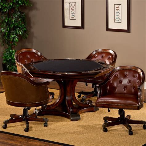 Hillsdale Harding 5 Piece Game Table Set   Rich Cherry