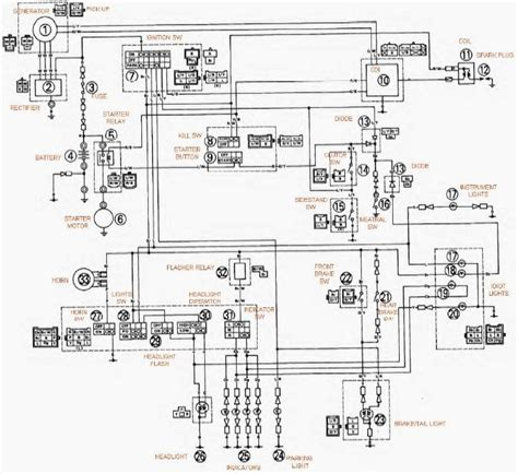 yamaha xt600e wiring diagram circuit wiring diagrams