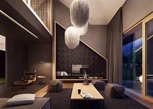 Wohnzimmer Design Ideen : wohnzimmer in grau und schwarz gestalten 50 wohnideen ~ Orissabook.com Haus und Dekorationen