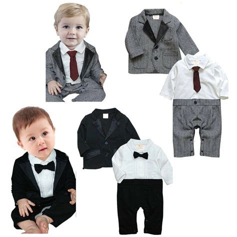 baby boy wedding christening tuxedo formal party outfits