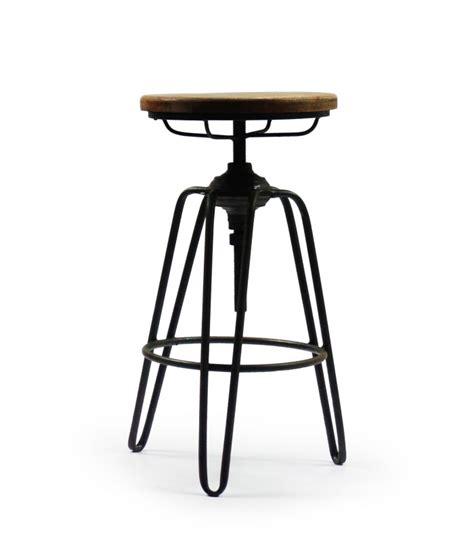 bureau hauteur ajustable tabouret de bar style tabouret d 39 usine en métal noir et