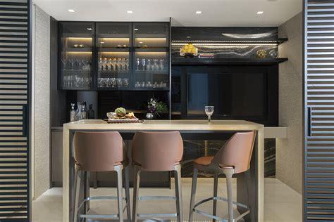 modern home bar design  luxury sunny isles condo
