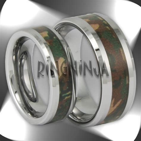 best camo wedding rings for him and