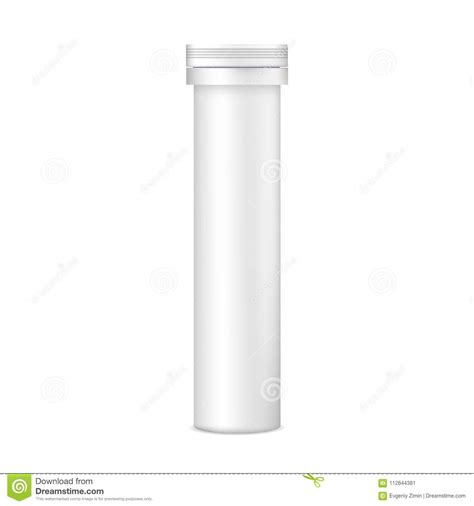Create an amazing presentation with the glossy plastic effervescent tablets tube mockup set. Plastic Tablets Tube Mockup - Front View Stock Vector ...
