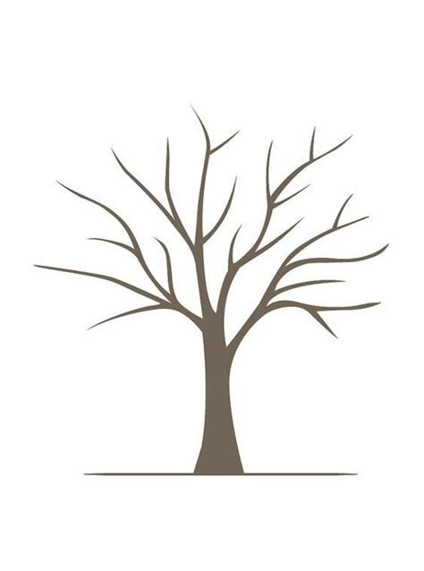 diy fingerprint tree poster instant  small