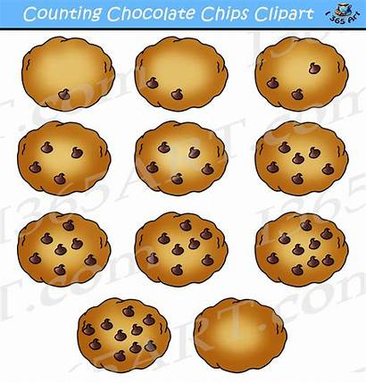 Chocolate Chip Clipart Cookie Cookies Counting Clip