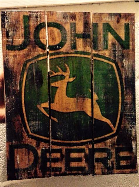 pallet john deere sign john deere sign john deere decor
